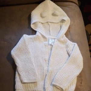 Carters button up hoodes sweater